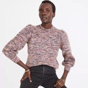 Madewell Eaton Puff Sleeve Pullover Sweater NWT